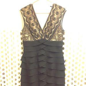 Jessica Howard Scalloped Tiered Midi Dress 12